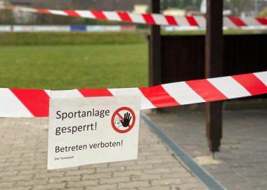 Coronavirus Sportplatz gesperrt